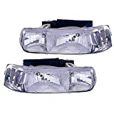 Itasca Sunstar 2007-2009 RV Motorhome Pair (Left & Right) Diamond Clear Front Headlights with Bulbs