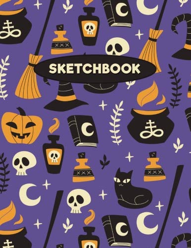 Halloween Sketchbook: Halloween Witchcraft & Magic: 120 Pages of 8.5