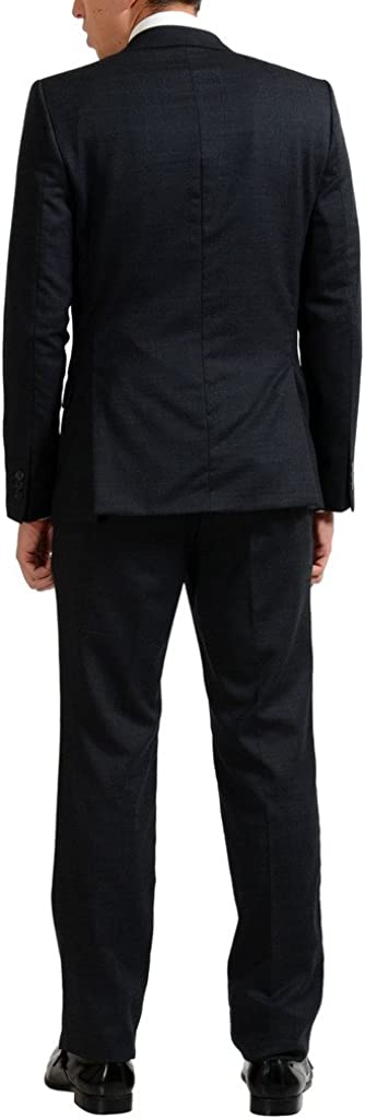 Versace Collection Wool Gray Two Button Mens Suit