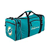 "The Northwest Company NFL Miami Dolphins NFL Steal Duffel, Teal, Measures 28"" in Length, 11"" in Width & 12"" in Height"
