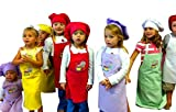Lot of 300 Medium Assorted Color CHEFSKIN Lightweight Apron for Kids Children 8-12 Yrs 19x28 Fabric