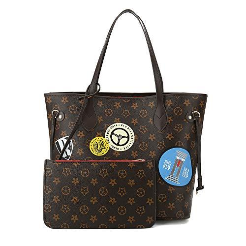 (Women's Leather Designer Handbags Tote Purses Shoulder Bucket Bags)