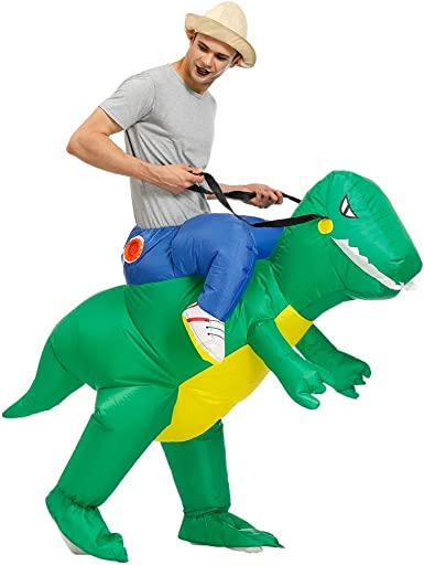 Kooynn Inflatable Dinosaur Costume Adult//Kid Ride on Walking Unicorn Cosplay