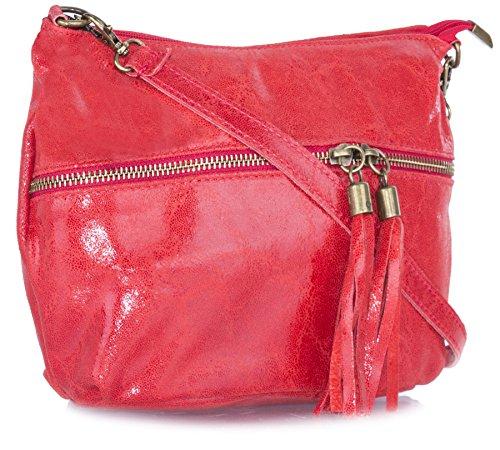Big Handbag Shop - Bolso bandolera mujer Red
