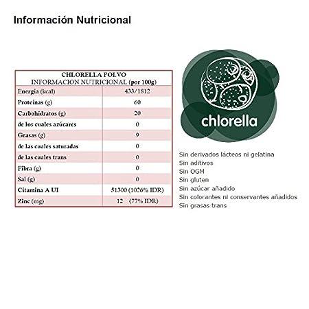 Energy Feelings Chlorella Polvo Eco Suplementos - 2 Paquetes de 100 gr - Total: 200 gr: Amazon.es: Salud y cuidado personal