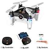 WiFi Mini Drone with Camera FPV RC Quadcopter with Dance Mode, Optical Flow, Altitude Hold and Headless Mode, Hand Movement Control Version, 2.4GHz