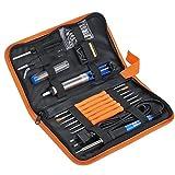 Soldering Iron, Adjustable Temperature Soldering lron Kit with 5 PCS Soldering Tips, Desoldering Pump, Soldering Iron Station, Tweezers, ect.