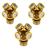 Misting Spray Nozzle,Brass Agricultural Misting Spray Nozzle Garden Sprinkler Irrigation System (3-Pack with Adapter)