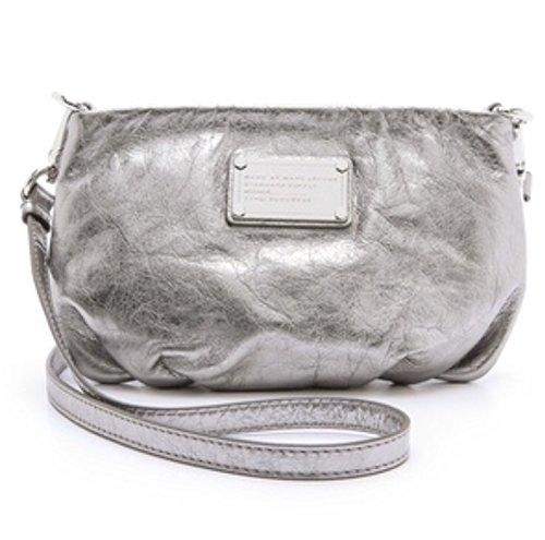 Marc by Marc Jacobs Women's Classic Q Percy Bag, Shiny Gunmetal, One Size