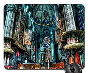 The Airy Doom of the Duomo Mouse Pad, Mousepad (Religious Mouse Pad) by icecream design