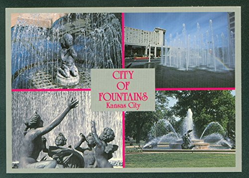 (CITY OF FOUNTAINS Kansas City MISSOURI MO Continental Postcard)