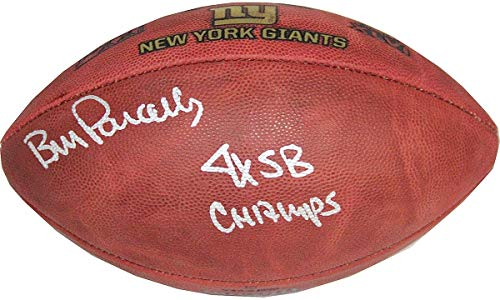 Bill Parcells Autographed Signed Giants 4 SB Logo Football with 4X SB Champs insc Dont Sell.Waiting for Coughlin - Authentic Signature