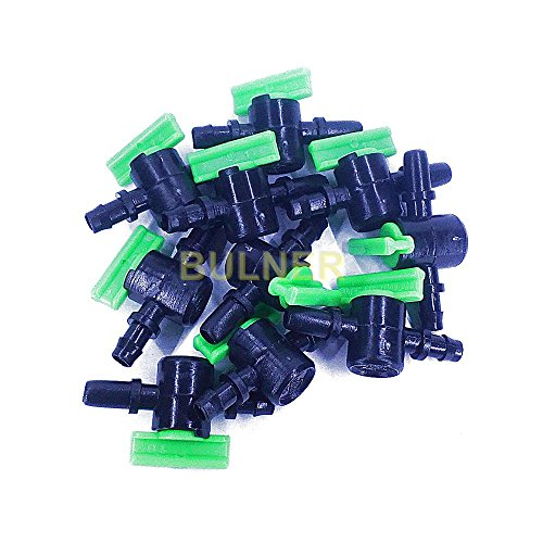Chrome Symbol Tub (Plastic Ball Valve 5mm. Taps Main Water Supply Irrigation Plastic Pipe Tube Connector Hose PE Spray Nozzle Mini Sprinkler Garden Hydroponic Agriculture (Packing: 10 Pcs./Pack))