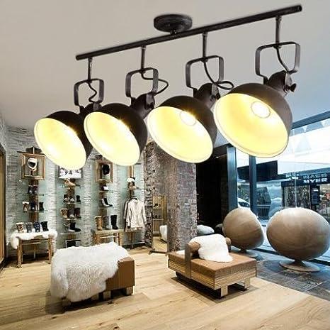 Creativa Spotlight restaurante ropa tienda de pista lámpara de hierro arte viento industrial pasillo personalidad lámpara