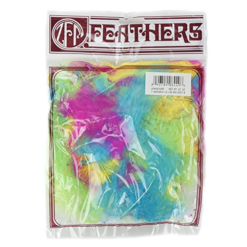 Zucker Feather (TM) - Loose Turkey Marabou Mix Dyed - Bright Mix