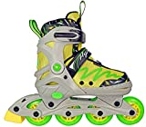 Hype Lemon Twist Adjustable Inline Skates Kids rollerblades Boys - Roller Blades for Youth - rollerskates for Kid, Boy, Girl, Girls - Comfortable fit - Safety non-slip wheels (Green/Yellow)