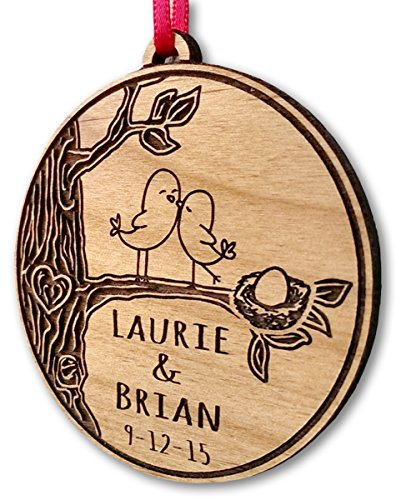 Personalized Expecting Baby Love Bird Ornament Baby Gift New Born Ornament