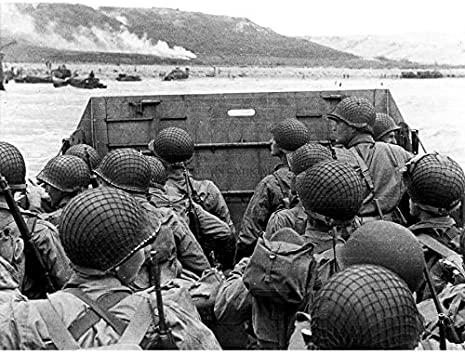 War WWII USA Troops Landing Omaha D-Day 3 x Large Wall Art Poster Pack 18X24/""