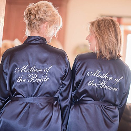 c3ba7df320 Amazon.com  Customized Mother of the Bride or Mother of the Groom Satin Robe   Handmade