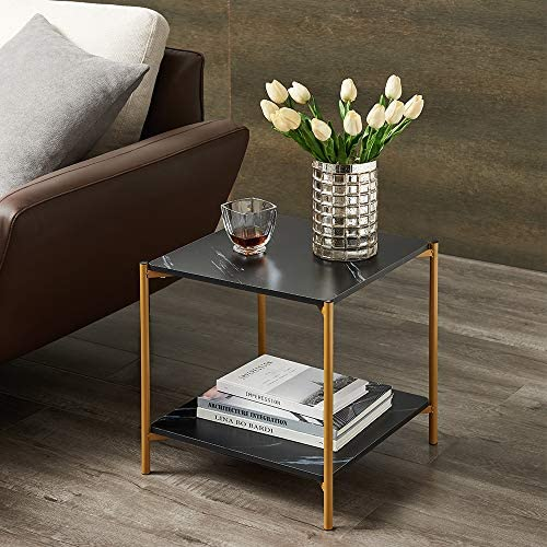 17in Modern Living Room Square Side End Coffee Table Nightstand