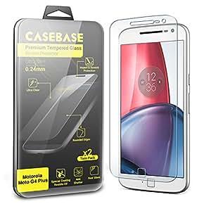 CaseBase® - La Película Protectora para la Pantalla de Vidrio Templado - Paquete de Dos para Motorola Moto G (4nd Gen) / MOTO G4 PLUS