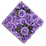 Umiss-Wedding-Bouquet-50pcs-Artificial-Flowers-White-Real-Touch-Artificial-Roses-for-Bouquets-Centerpieces-Wedding-Party-Baby-Shower-DIY-Decorations-Lavender