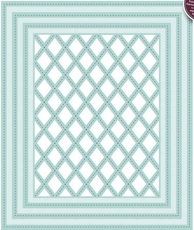 Sue Wilson CED9303 Shadow Boxes Stitched Lattice Frames Dies