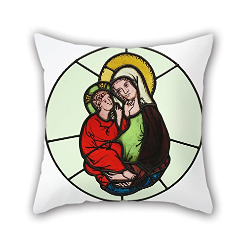 Loveloveu 20 X 20 Inches / 50 By 50 Cm Oil Painting Master Of Klosterneuburg (Austrian, Active Early 14th Century) - The Virgin And Child Pillow Covers ,each Side Ornament And Gift To Kids