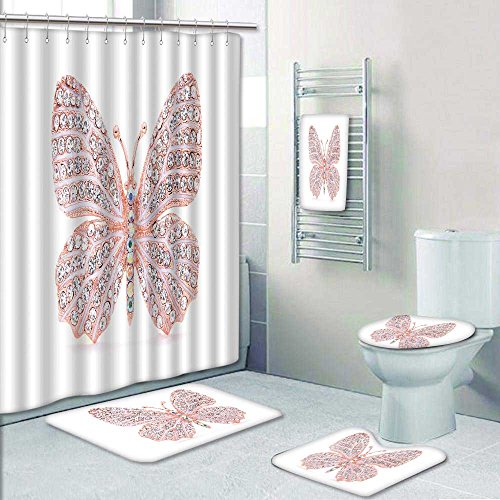 Well Wreapped Chaoranhome Designer Bath Polyester 5 Piece Bathroom Setbrooch In The