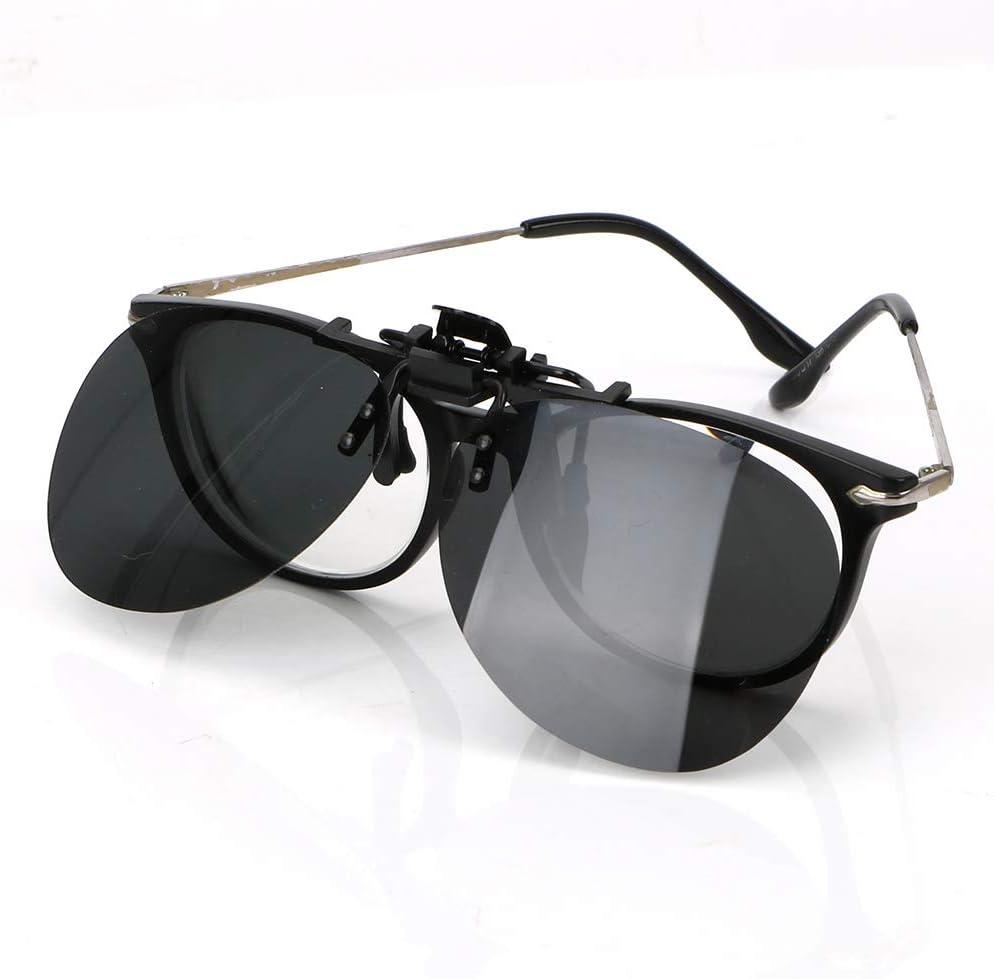 Sonnenbrille polarisiert Schutzbrille mit Clip in Sonnenbrille Nachtsichtlinse Gelb