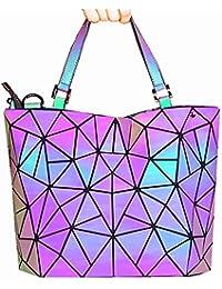 HotOne Geometric Purse and Handbags Luminous bags Shard Lattice Eco-friendly Leather Holographic Purse