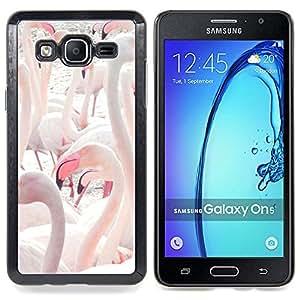 For Samsung Galaxy On5 O5 Case , Flamingos lago de agua Aves Pico - Diseño Patrón Teléfono Caso Cubierta Case Bumper Duro Protección Case Cover Funda