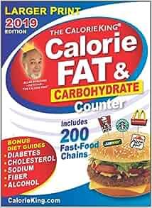 Calorieking 2019 Larger Print Calorie Fat Amp Carbohydrate