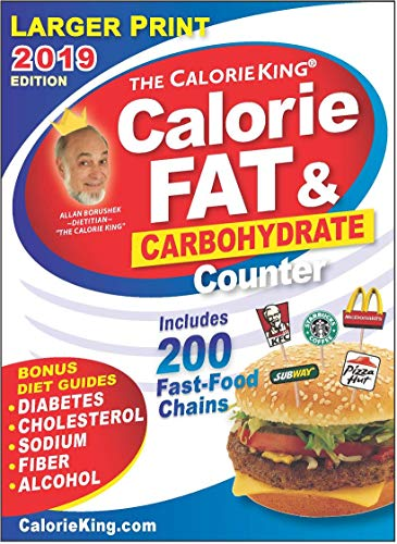 Fat Pockets - CalorieKing 2019 Larger Print Calorie, Fat & Carbohydrate Counter