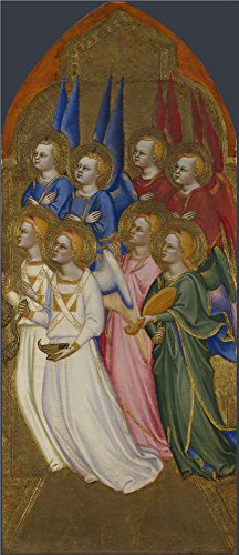 The Polyster Canvas Of Oil Painting 'Jacopo Di Cione And Workshop Seraphim Cherubim And Adoring Angels (1) ' ,size: 16 X 37 Inch / 41 X 94 Cm ,this Imitations Art DecorativePrints On Canvas Is Fit For Study Gallery Art And Home Gallery Art And Gifts]()