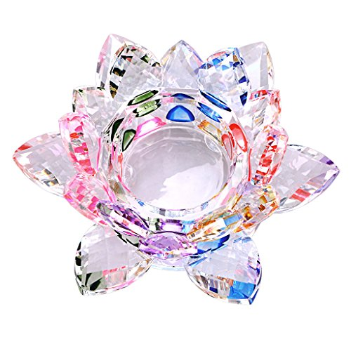 OwnMy Crystal Lotus Flower Jewelry Dish Home Decoration Desk Ornaments Paperweight Jewelry Holder Tray Decor Dish Plate
