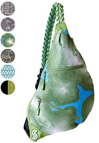 Slope Sling Bag for Women Kids School Crossbody Shoulder Backpack One Strap Daypack - Topo