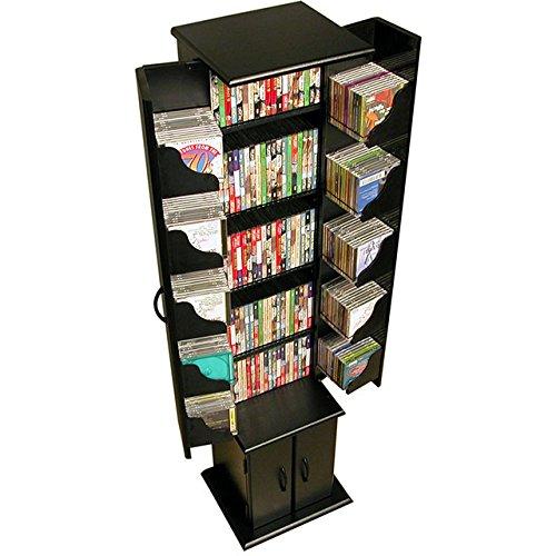 Venture Horizon Media Storage Tower- Black