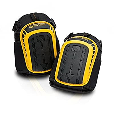 Professional Knee Pads with Layered Gel and Neoprene Fabric Liner - Heavy Duty Foam Padding Kneepads - Cozy Gel Cushion - Strong Straps and Adjustable Clips - For Gardening, Construction & Flooring