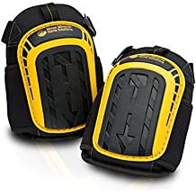 Professional Knee Pads with Layered Gel - Heavy Duty Foam Padding Kneepads - Cozy Gel Cushion Knee Pad - Strong Straps & Adjustable Clips - For Work, Cleaning, Gardening, Construction & Flooring