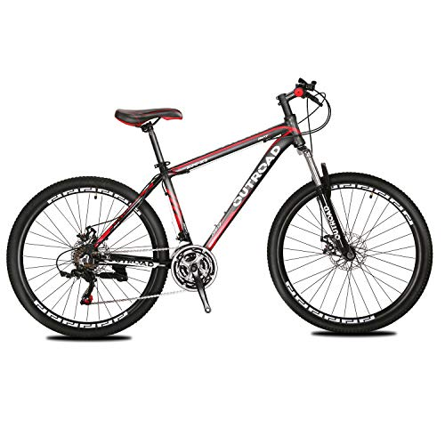 Max4out Mountain Bike 21 Speed Shining SYS Double Disc Brake Suspension Fork Rear Suspension Anti-Slip 26 inch Bikes (Best Mens Mountain Bike Under 1000)