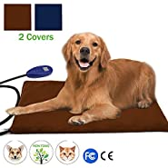 Pet Heat Pad Sotical Veamor Electric Heating Pad for Cats and Dogs Waterproof Warming Mat with Chew Resistant Cord Soft Remove Cover Overheat Protection