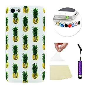 For Apple iPhone 5 5S Case, Moonmini?? Apple iPhone 5 5S Ultra-thin Soft TPU Phone Back Case Cover Skin Protective Shell (Pineapples)