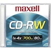 Maxell CD-RW 700MB Slim Case 80 Minutes DVD Storage Case (630010)