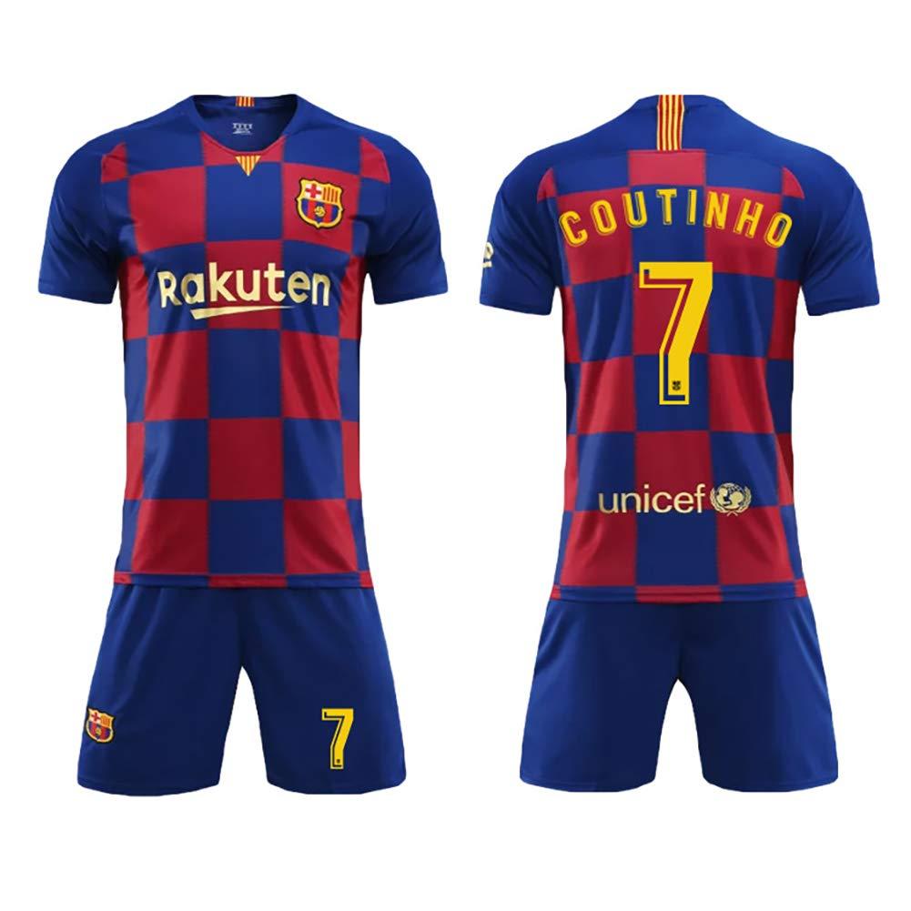 Barcellona a casa Abiti di Calcio Soddisfare i Nuovi Modelli reticolari Maglia n /° 10 Messi Coutinho Sportivi Figli Adulti Vestiti di Calcio Tuta
