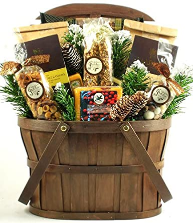 Best Christmas Gift Baskets.Amazon Com A Rustic Holiday Gift Basket Size Large