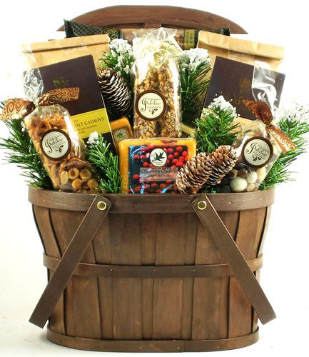 A Rustic Holiday Gift Basket | Size Large | Great Christmas Gift for the Whole Family by Gifts to Impress