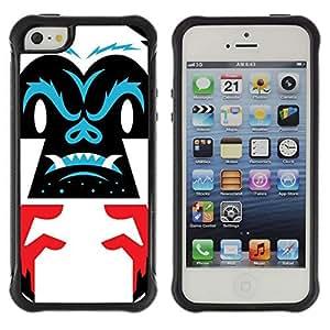 Hybrid Anti-Shock Defend Case for Apple iPhone 5 5S / Cool Gorilla
