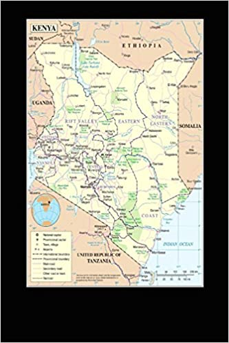A Map of the Cities of Kenya in Africa Journal: Take Notes ...