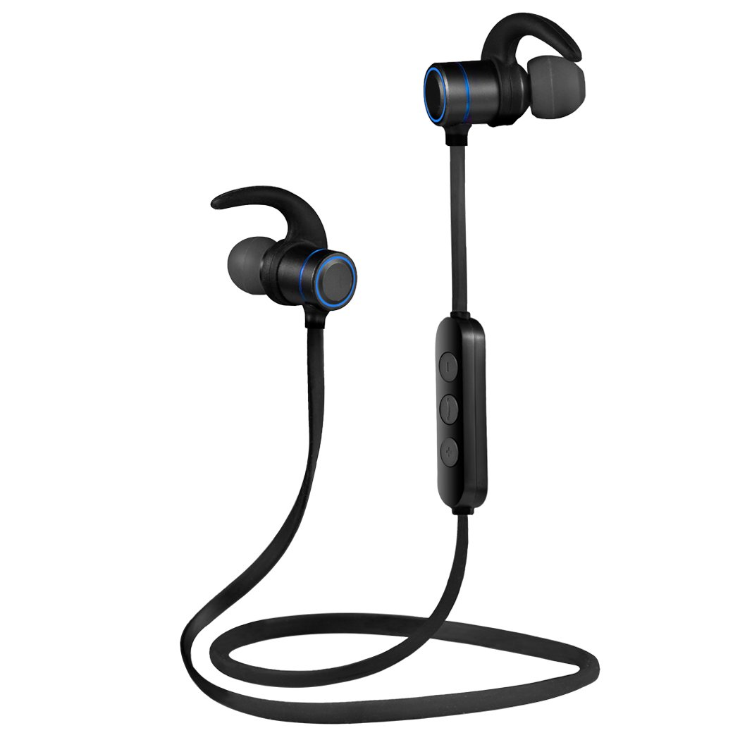 SoleZa Bluetooth Headsets Wireless Sport Earphone Lightweight Stereo in-ear Earbuds Black